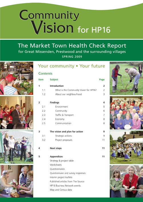 Front cover of Market Town Health Check 2009