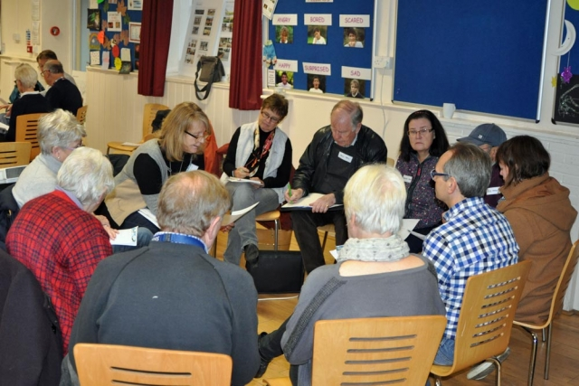 Carole Eaden addresses group discussion GMPRG consultation Prestwood November 2018