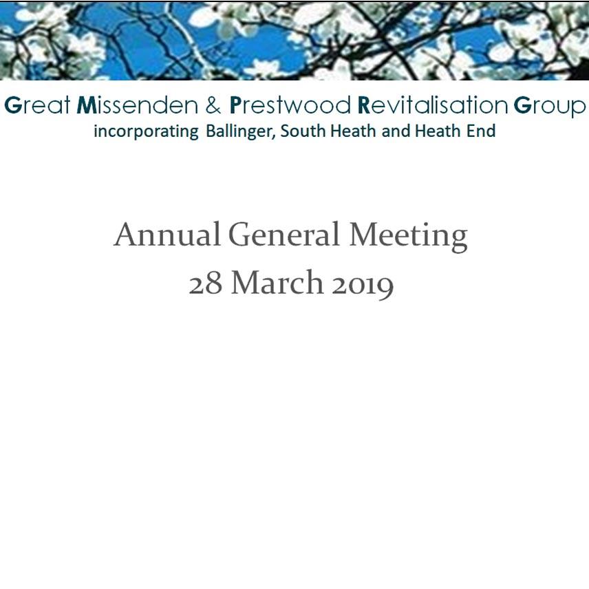cover of GMPRG 2019 AGM presentation