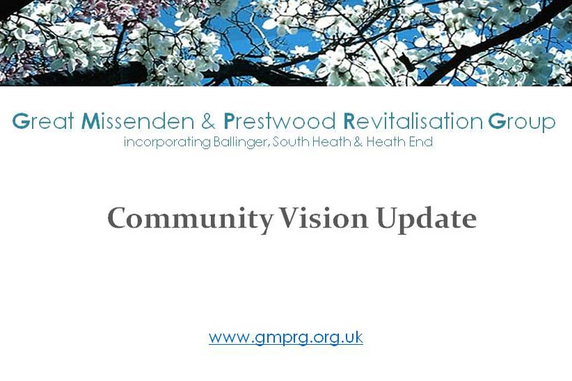 cover slide of GMPRG community vision presentation
