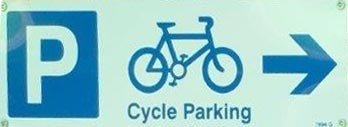 cycle parking sign at Coop Prestwood