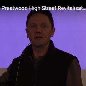 Ben Hamilton-Baillie presenting his plan for Prestwood