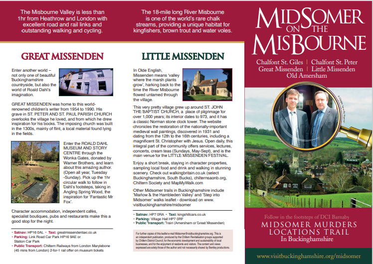 Midsomer on the Misbourne leaflet produced with financial contribution from GMPRG